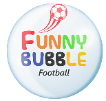 Funny Bubble Football Retina Logo